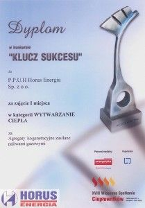 """Dyplom w konkursie """"KLUCZ SUKCESU"""""""