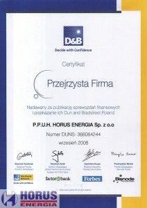 D&B Przejrzysta firma 2008